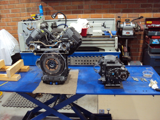 Engine and Gearbox after rebuild
